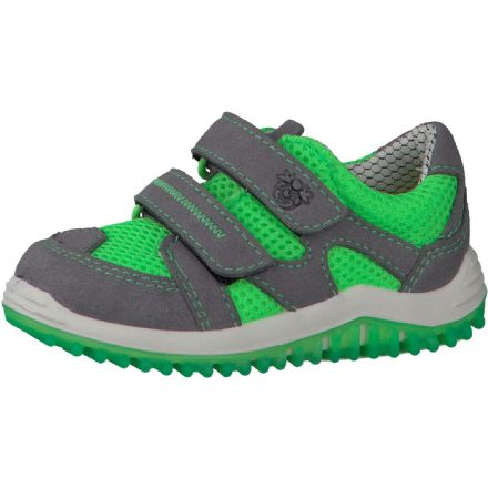 Ricosta PEPE Lightweight Velcro Trainer (Grey/Lime green)